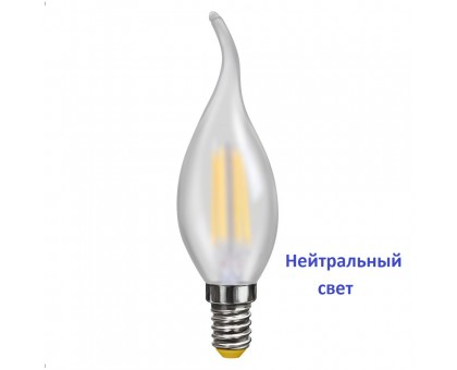 LED Лампа VOLTEGA 7007/VG10-CW2E14cold4W-F Свеча на ветру матовая