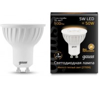 Лампа GAUSS LED MR16 GU10 5W 3000K 101506105