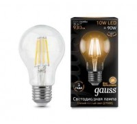 Лампа GAUSS LED FILAMENT  A60 E27 10W 2700К 102802110