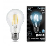 Лампа GAUSS LED FILAMENT A60 E27 10W 4100К 102802210