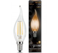 Лампа GAUSS LED FILAMENT CANDEL TAILED E14 5W 2700K 104801105