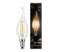 Лампа GAUSS LED FILAMENT CANDEL TAILED E14 7W 2700K 104801107