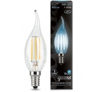 Лампа GAUSS LED FILAMENT CANDEL TAILED E14 5W 4100K 104801205