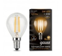 Лампа GAUSS LED FILAMENT GLOBE E14 5W 2700K 105801105