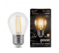 Лампа GAUSS LED FILAMENT GLOBE E27 7W 2700K 105802107