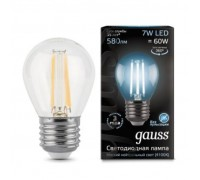 Лампа GAUSS LED FILAMENT GLOBE E27 7W 4100K 105802207